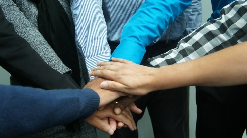 Teamwork hands
